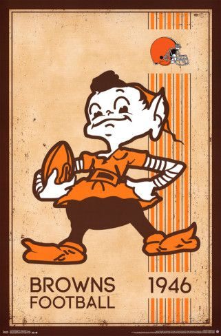 CLEVELAND BROWNS - RETRO LOGO 14 Prints at AllPosters.com