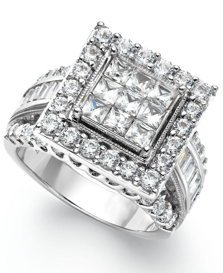 1000+ Ideas About Square Engagement Rings On Pinterest