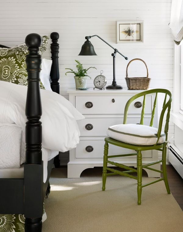 How To Design A Room Around A Black Bed.... I've got a black wrought iron bed, this will come in handy.