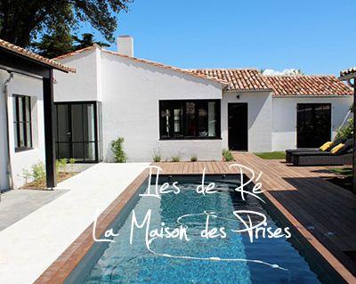 """Rappelez-vous mon séjour à l'île de Ré. En version grand luxe ça à l'air tout aussi tentant, je vous emmène aujourd'hui chez """"Les Prises"""" une magnifique maison"""