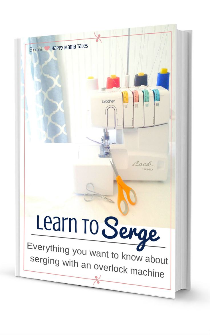 Learn to serge in a free ebook download! Serge with an overlook machine will make all of your DIY projects easier and better! I love serging!!