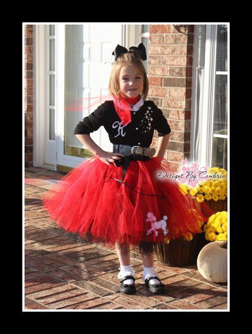 Poodle Skirt Tutu Sock Hop