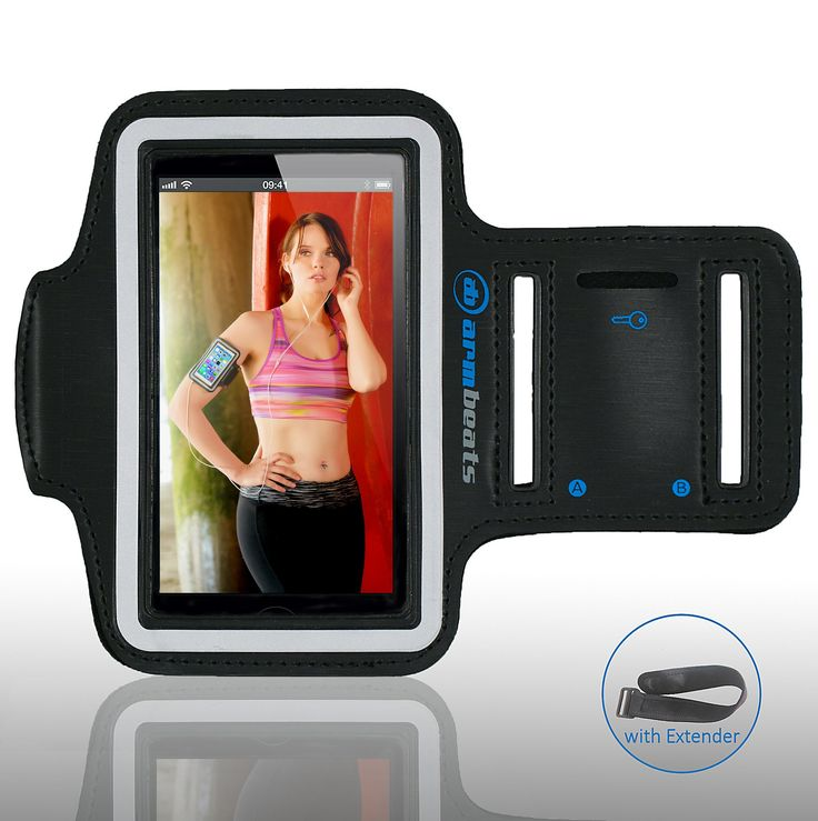 Sports Armband for iPod Touch 5th Generation and iPhone 5, 5s, 5c, 4, 4s by Armbeats, with Free 8 inch Armband Extender, Key Holder and Reflective Surround. GET FITTER RUNNING TO THE BEAT. Music can really bring a running session to life. Enjoy your favorite music and let it inspire you to run your best. This is the ideal armband for running, jogging and cardio workouts. NO MORE CRACKED SCREENS. Repairing a cracked screen is always expensive. Avoid a cracked screen on your iPhone or iPod...