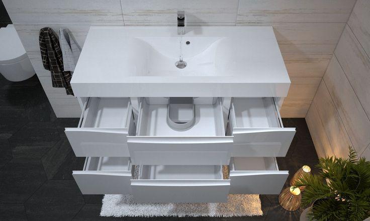 Z przyjemnością prezentujemy Państwu najnowszą kolekcję marki Furni. GRANDE to meble, które zostały zaprojektowane w odpowiedzi na Państwa wymagania. Są to najbardziej pojemne, w pełni lakierowane meble łazienkowe w Polsce. Szafki łazienkowe mają prawie 50 cm głębokości. Zapewnia to bardzo dużo miejsca do przechowywania. Dodatkowo wyposażamy Grande w umywalki wykonane z lanego marmuru z powłoką Evermite,