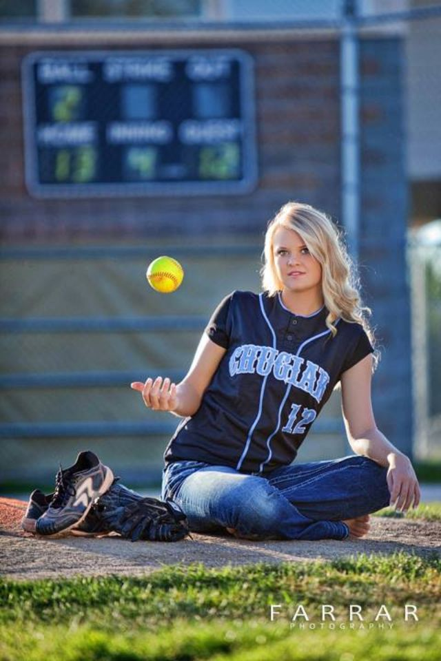 Senior softball picture..this would be cool for another sport too