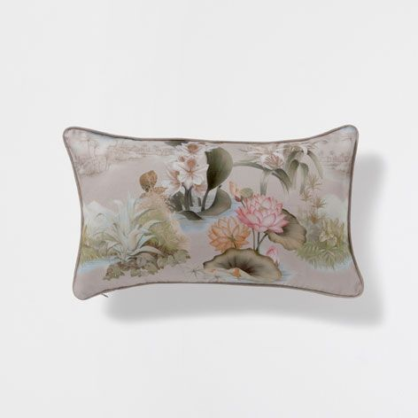 Water lily printed cushion - Cushions - Bedroom | Zara Home United Kingdom