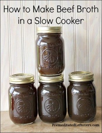 How to Make Beef Broth in a Slow Cooker | Recipe | Beef Broth, Beef ...