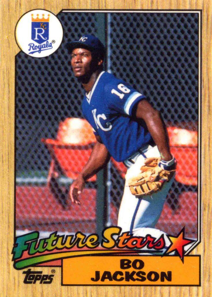 1987 topps bo jackson baseball cards pinterest