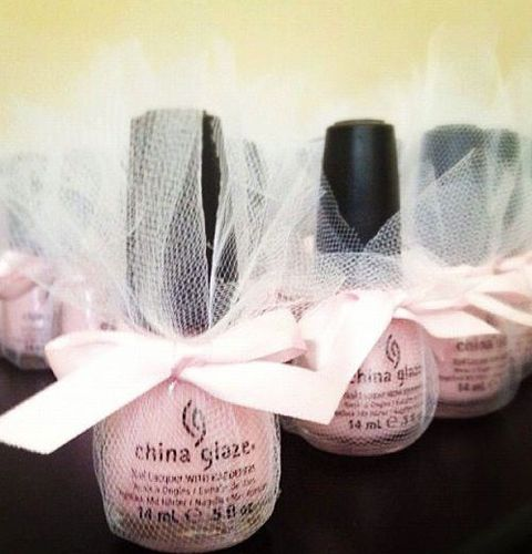 bridal shower favor? So cute! Can't go wrong with this gift! #nailpolish #chinaglaze #easy