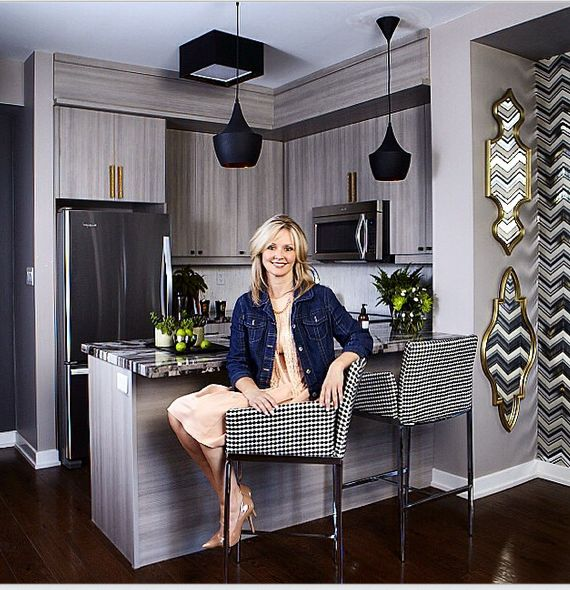 Our Designer Jennifer Brouwer in one of our model suites.