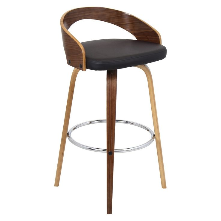 "Lumisource Grotto 30"" Barstool - Walnut"