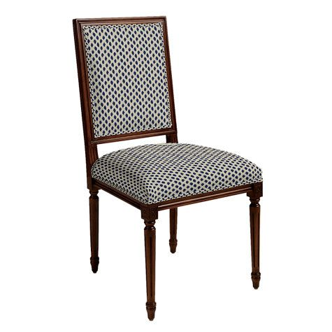 Square Back Louis XVI Side Chair Living Room ChairsDining