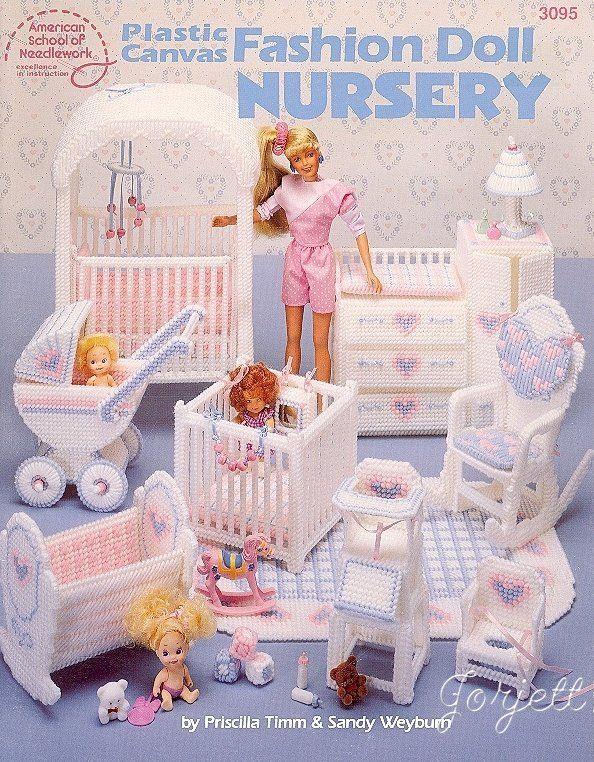 Fashion doll nursery plastic canvas patterns fit barbie dolls ebay