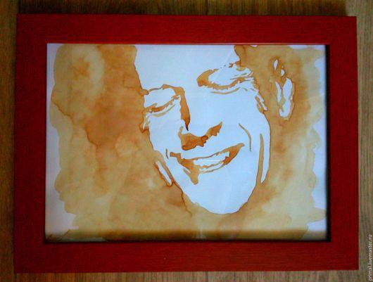 """Люди, ручной работы. Ярмарка Мастеров - ручная работа. Купить Кофейный рисунок """"Брюс Уиллис"""". Handmade. Коричневый, брюс уиллис"""