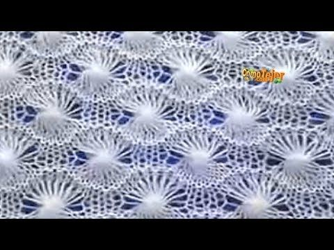 Cómo Tejer ENCAJE SUIZO - 2 agujas (503) - YouTube