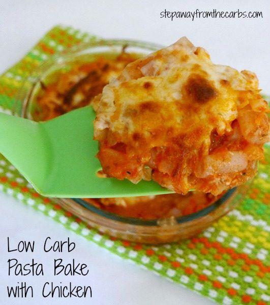 Low Carb Pasta Bake with Chicken - using shirataki pasta