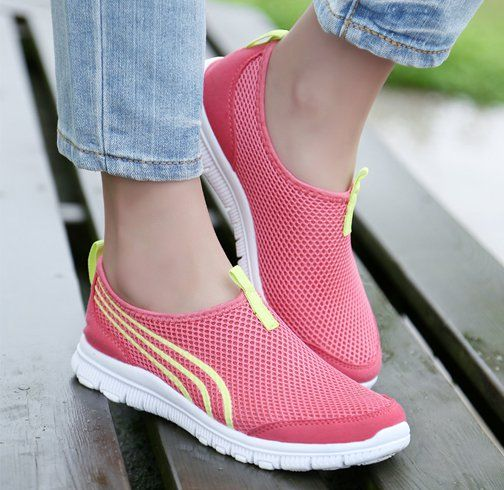 Slip On Running Shoes With Jeans