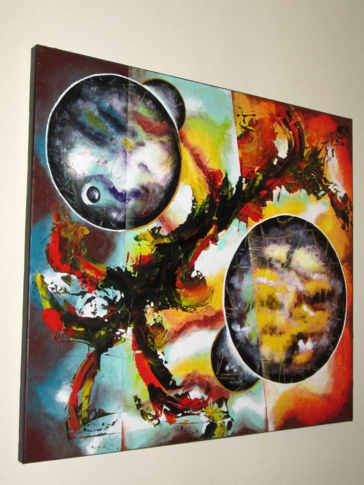 ASTRONOMICAL CLOUDS Mod de realizare : acrylic pe panza Dimensiune : 80 x70 x 2 cm Lucrare disponibila Artwork available
