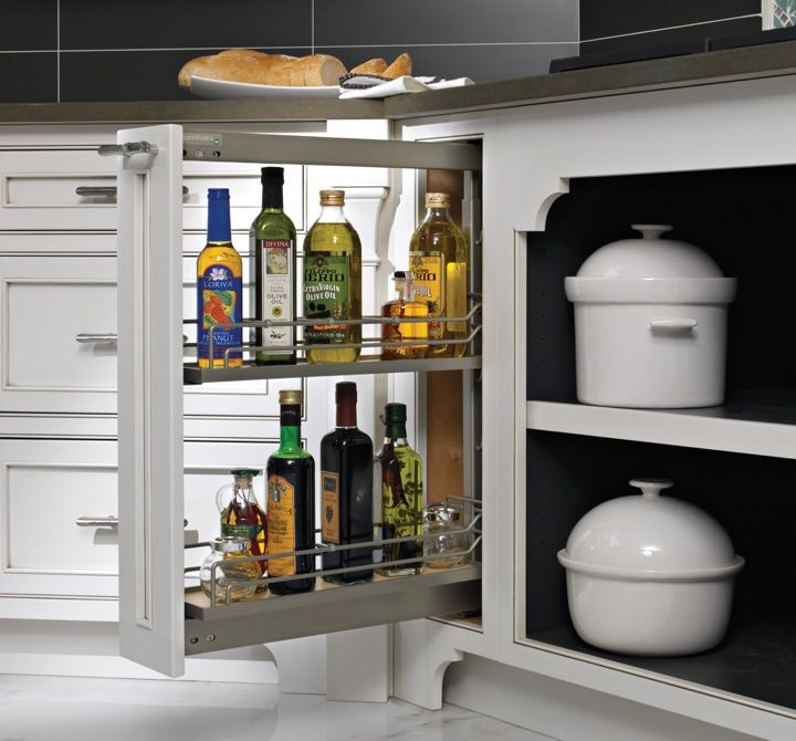 Store Canned Goods Or Spices With A Base Canned Good Storage Accessory. Oil  And Vinegar