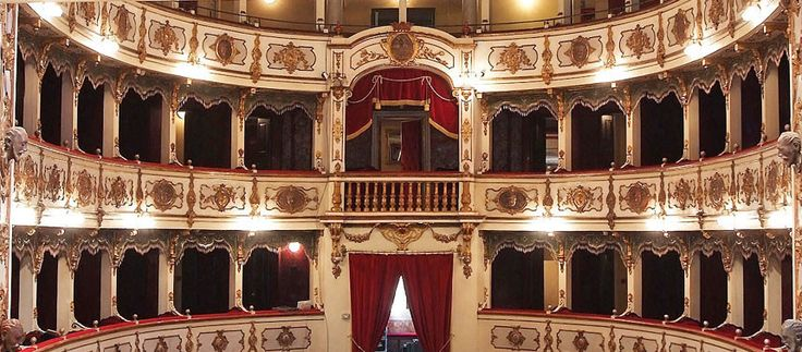 Teatro Verdi in Busseto view from the stage (Parma, Italy)