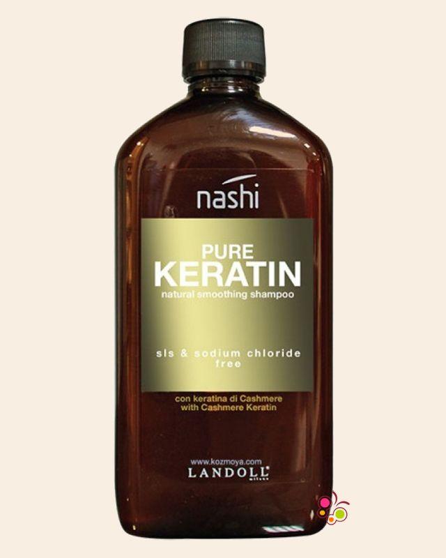 NASHI Pure Keratin Asi ve Kabarık Saçlar İçin Düzleştirici Sülfatsız Şampuan 500 ml