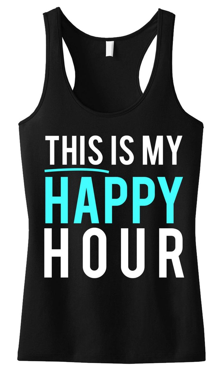 This Is My Happy Hour Workout Tank, Black - NobullWoman Apparel