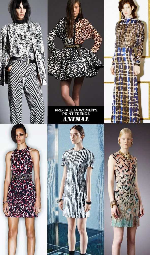 pattern people AW14 PRE FALL Print Trends ANIMAL Runway | Pre Fall 14 Womens Print Trends