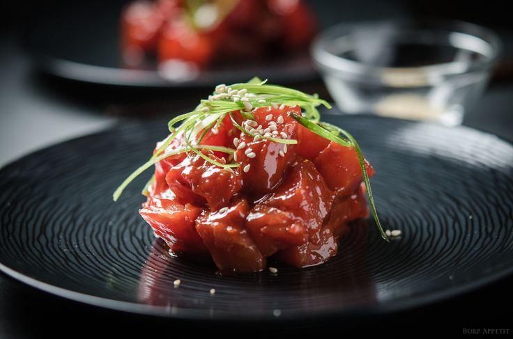 Raw Tuna in Korean Chilli Sauce | Burp! Appetit