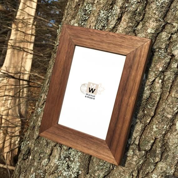 Walnut Frame 4x6 Photo Frame Home Decor Handmade Natural Wood Frames Wedding Gift Housewarming Gift Standing Frame Leaning With Images Picture On Wood Wood Picture Frames Natural Wood Frames