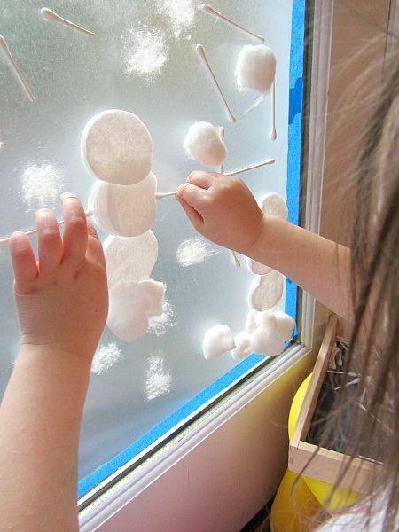 snow window toddler activity