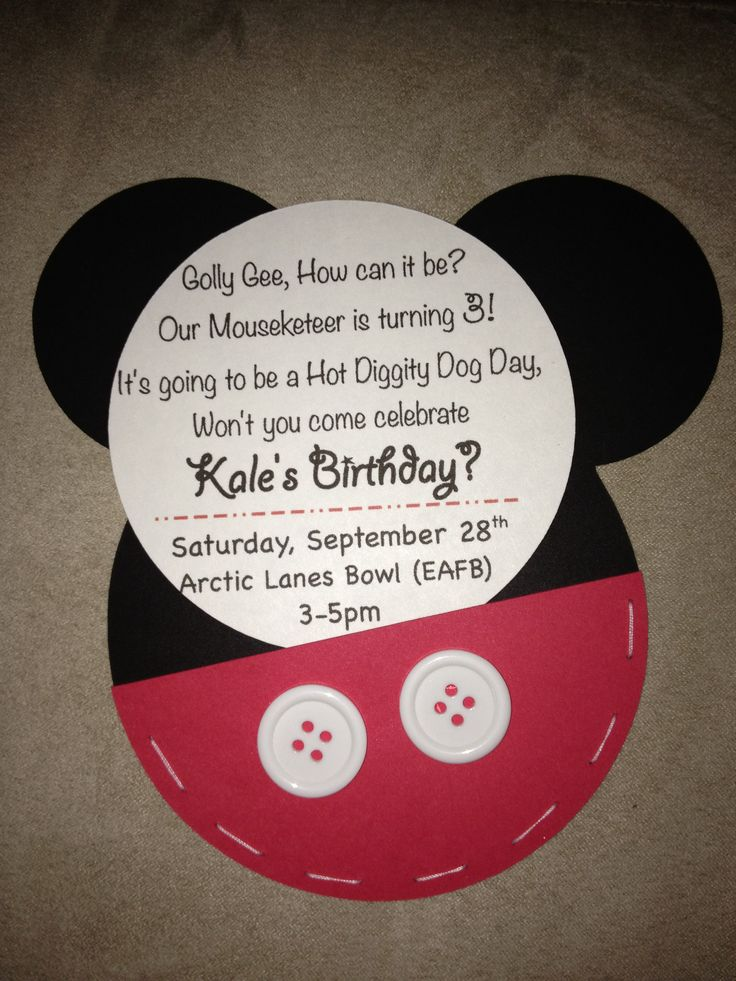 wording ideas forst birthday party invitation%0A Mickey Mouse  rd birthday invitations