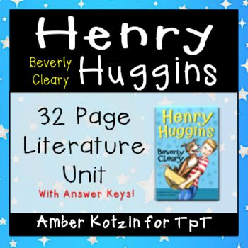 """This packet contains a whopping 32 student page guide to use with the book """"Henry Huggins"""" by Beverly Cleary. This is the first novel that was written by Beverly Cleary. Do you want a literature guide that shows the love a boy has for his new found dog and the mischief boys can get into? Do your students enjoy the """"Ramona"""" series? Then this is the book guide for you. This is an AR book with an ATOS level of 4.3 and is worth 3 points."""
