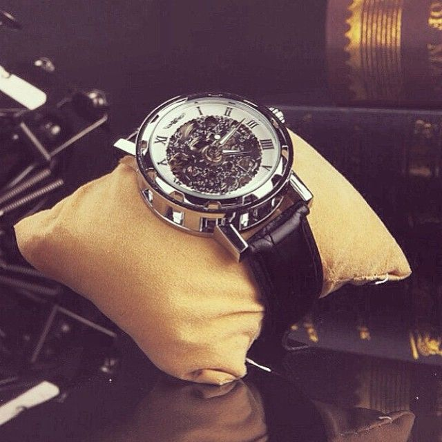 The perfect gift for a modern gent - Silver spoked £45. Free WORLDWIDE delivery. Coming soon to LordTimepieces ⌚️ #gentlemen #timepiece #fashion #menswear #mensfashion #skeleton #vintage #class