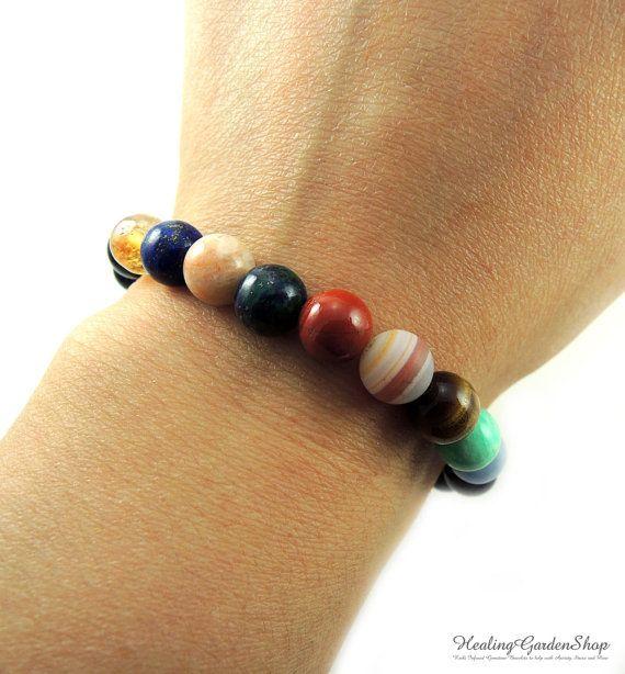 Solar System Gemstone Planet Bracelet // Science Jewelry //