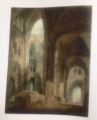 .ダラム大聖堂の内部、南側廊より東方向を望む 1798年 /ターナー(英)