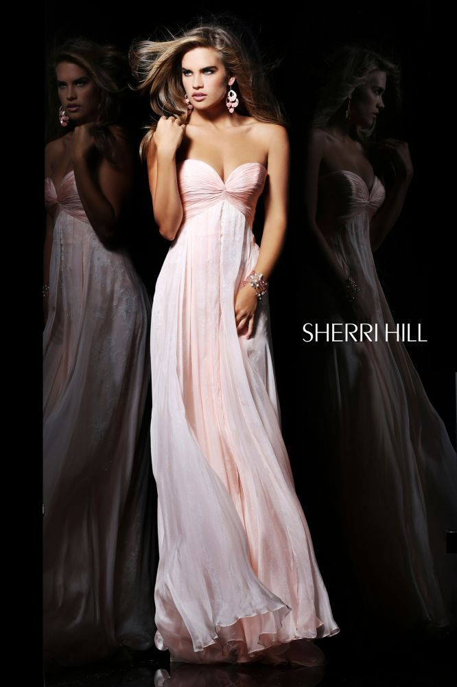 This would be pretty, even in this blush pink.  Sherri Hill - Dresses