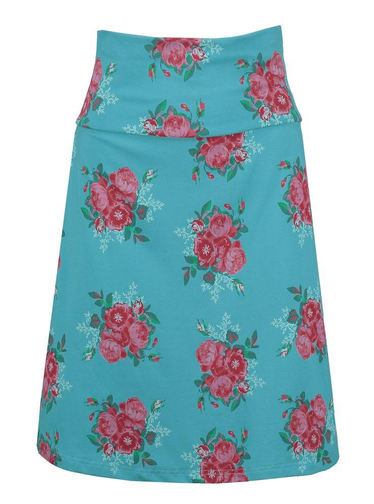Tante Betsy skirt les fleurs blue floral print rok blauw bloemenprint   https://www.tantebetsy.com/nl/skirt-les-fleurs-blue.html