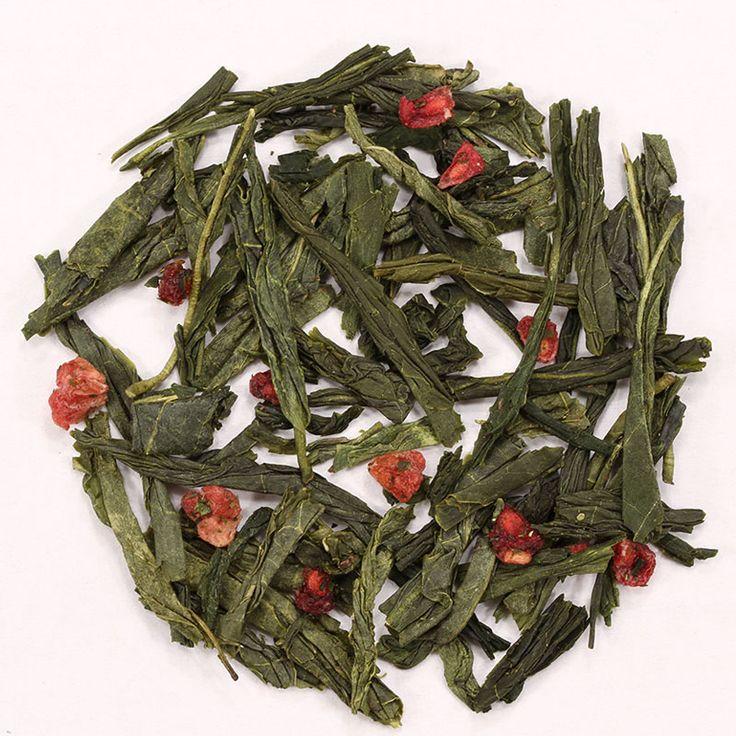 Té Verde Frambuesa // Este té verde con frambuesa es una mezcla del fresco y crujiente té verde de China con el sabor dulce y ácido de las frambuesas rojas.