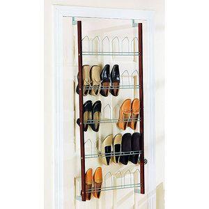 espresso overdoor shoe rack