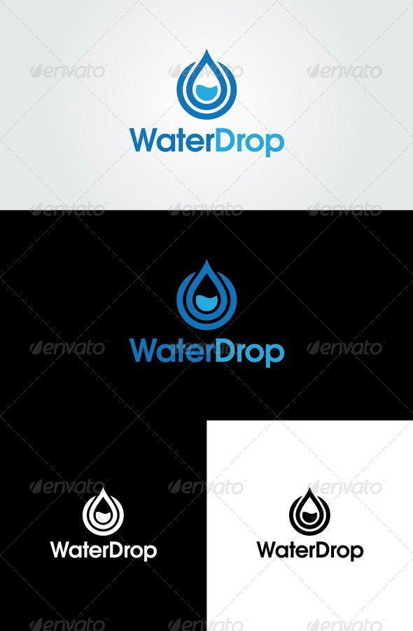 Water Drop - Logo Design Template Vector #logotype Download it here: http://graphicriver.net/item/water-drop-logo-template/4436362?s_rank=340?ref=nexion