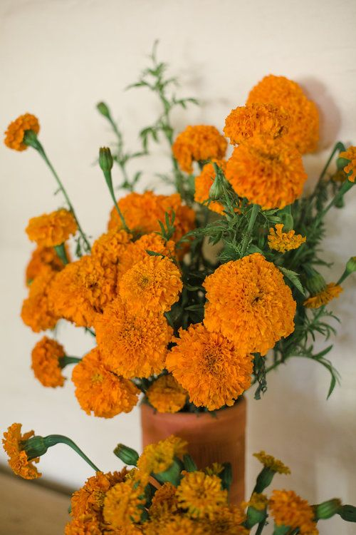 Joshua Tree Wedding at 29 Palms Inn. Marigold Bouquet
