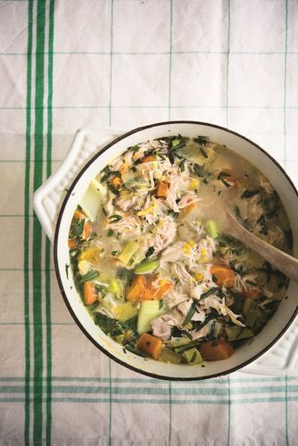 Chicken and Tarragon Casserole from Amelia Freer's book Cook. Nourish. Glow. The vegetables and chicken for this cosy casserole are slow cooked leaving them deliciously tender and full of flavour. A great winter warmer!