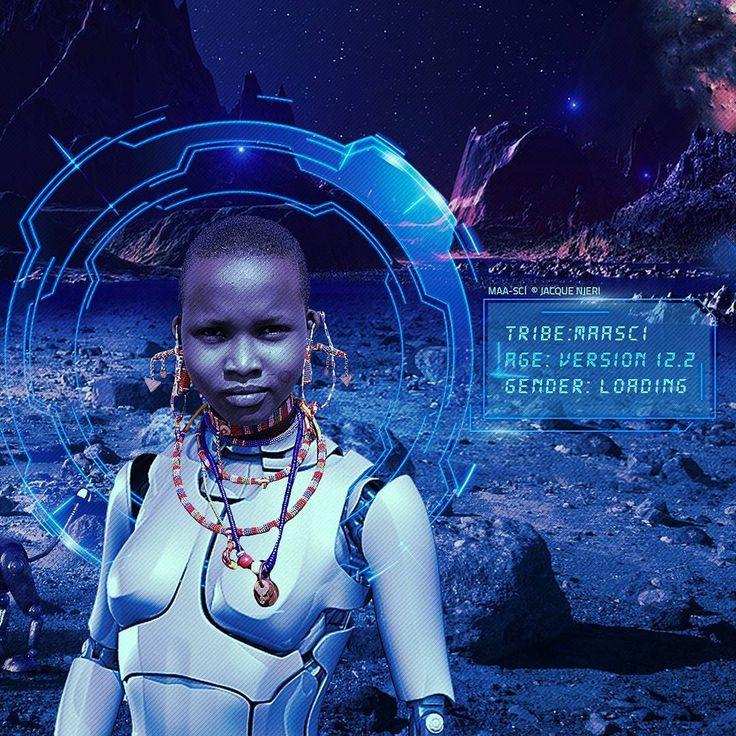 Jaque Njeri's MaaSci series reimagines the future of the Maasai in space — Quartz