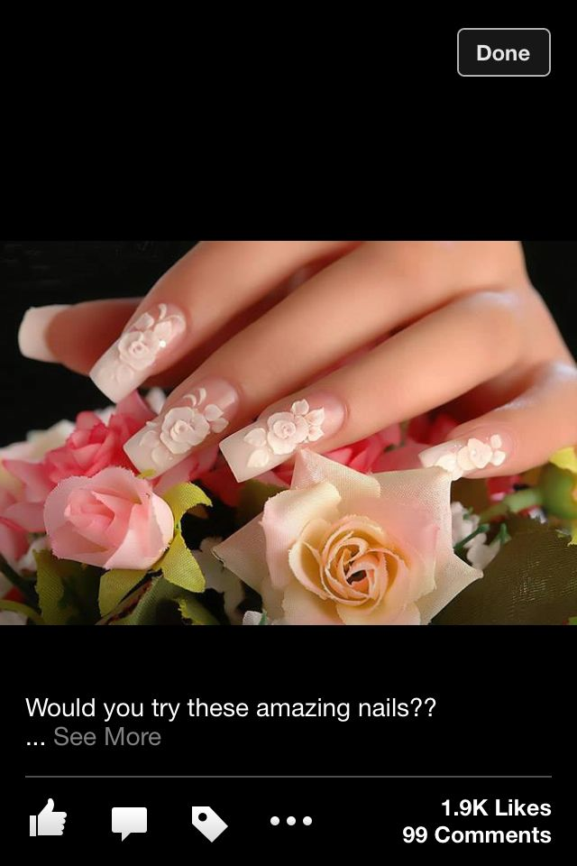 64 best Nails For Your Wedding Day images on Pinterest | Nail ...