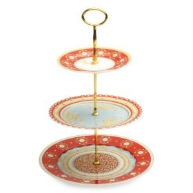 3 TIER HIGH TEA CAKE STAND FOR HIRE AVA PARTY HIRE http://www.avapartyhire.com.au/product/crockery-cutlery-for-hire Call us on 9938 5599 for a quote