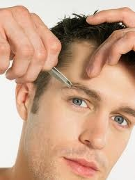 Sometimes, a small facial hair trimmer, like mustache scissors, is all that is needed to shorten flyaway eyebrow hairs.  That's a great place to start.  The next step is to decide which other areas need the most attention. Never let them cross over its bad. ;)