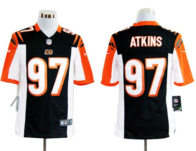 Nike NFL Jerseys Cincinnati Bengals Geno Atkins #97 Black  Reliable online store for cheap NIKE NFL Cincinnati Bengals  Jerseys, 2012 New collection, top quality with most favorable price. please click: http://digjersey.com/nike-nfl-jerseys-cincinnati-bengals-c-129_133.html