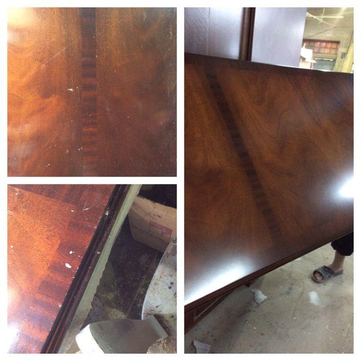 Реставрация столешницы в кабинете