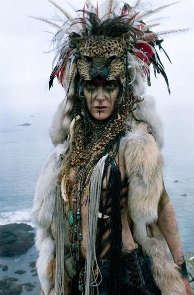 LOVE this look - Great Big Little Panther? Panther mask worked into headdress somehow?