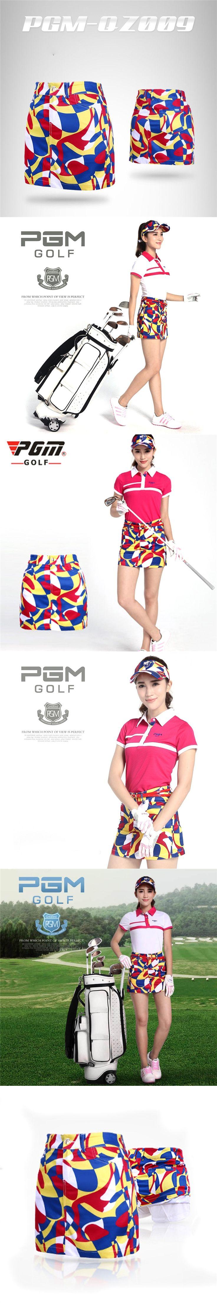 PGM Brand Polo Golf Skirt Women Short Printing Dresses Golf Clothes Ladies Leisure Elastic Sport Anti-Wrinkle Skirts Size XS-XL
